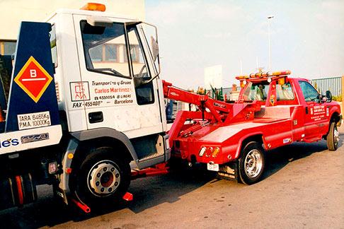 Asistencia en carretera con grúa para camiones